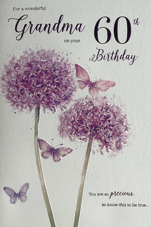 Grandma's 60th Birthday Card