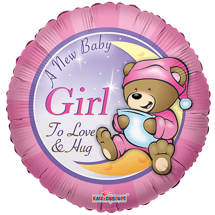 """A New Baby Girl 18"""" Foil Balloon (Deflated)"""