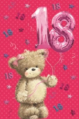 3D 18th Birthday Card(F)