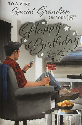 Grandson's 18th Birthday Card