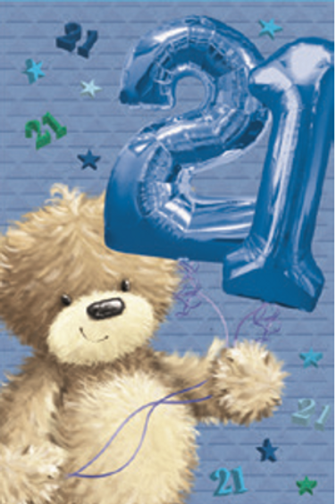 3D 21st Birthday Card(M)