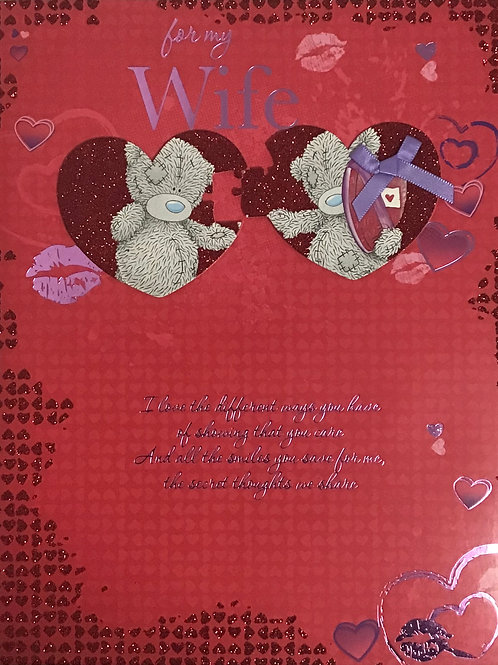 Me To You Wife Valentines Card (Lge)