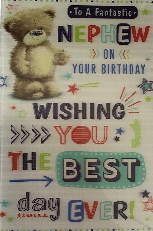 3D Nephew Birthday Card (C)