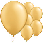 "11"" Metallic Gold Balloons 6pk"