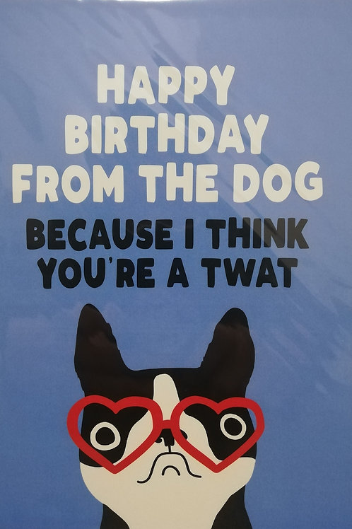 From The Dog Birthday Filthy Sentiment Card