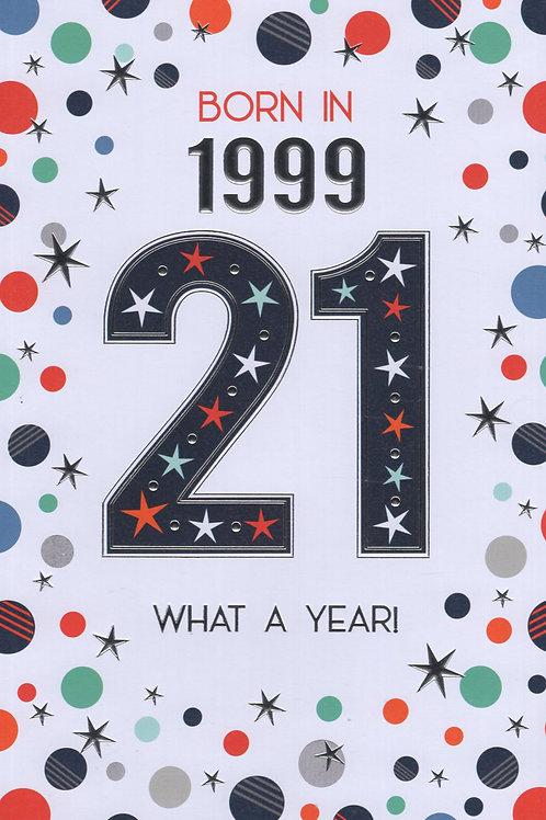 Year You Were Born 21st Birthday Card