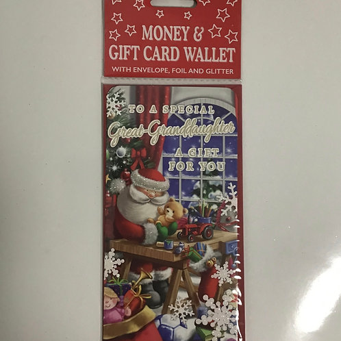 Great Granddaughter Money & Gift Card Wallet