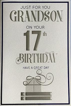 Grandson's 17th Birthday Card