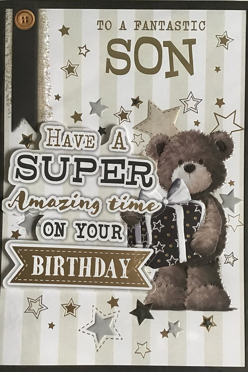 Son Birthday Card (Lge)