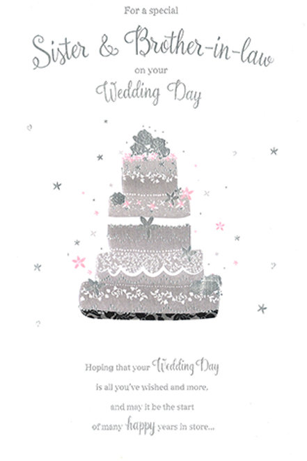 Sister & Brother in Law Wedding Day Card