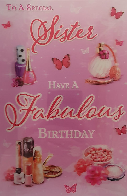 3D Sister Birthday Card(T)