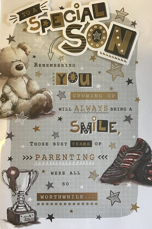 Son Birthday Card 8 Page