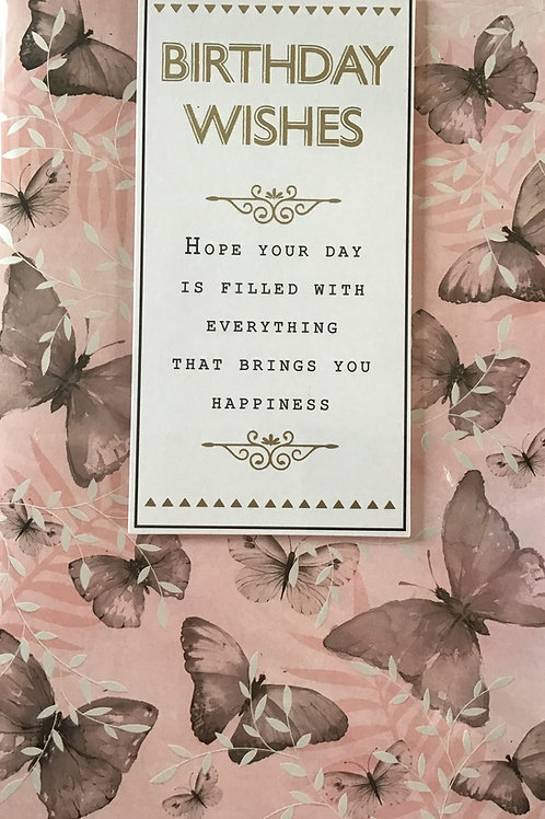 Female Open Birthday Card
