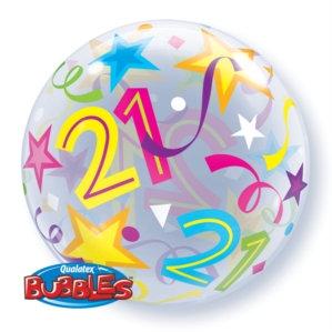 """21st Birthday 22"""" Bubble Balloon"""