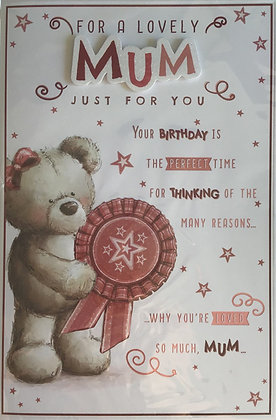 Mum Birthday Card 8 Page