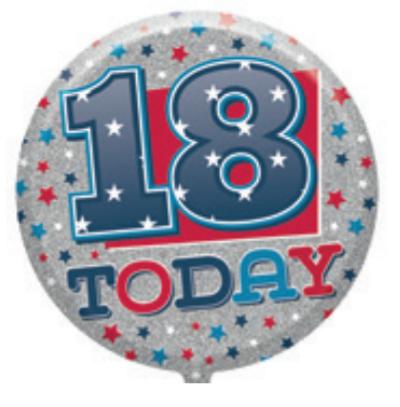 "18th Birthday Male 18"" Foil Balloon"