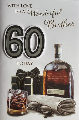 Brother's 60th Birthday Card