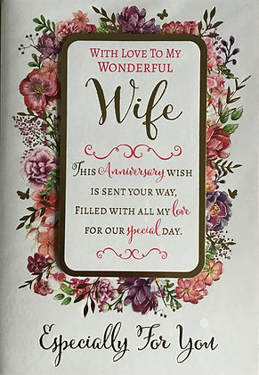 Wife Anniversary Card (Lge)