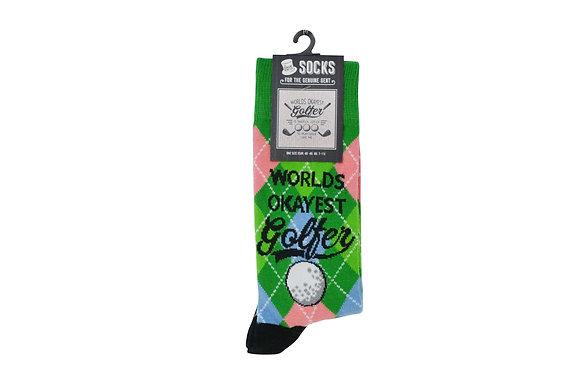 Okayest Golfer Socks