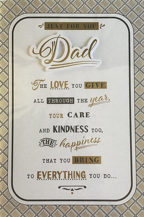 Dad Birthday Card (Lge) 8 Page