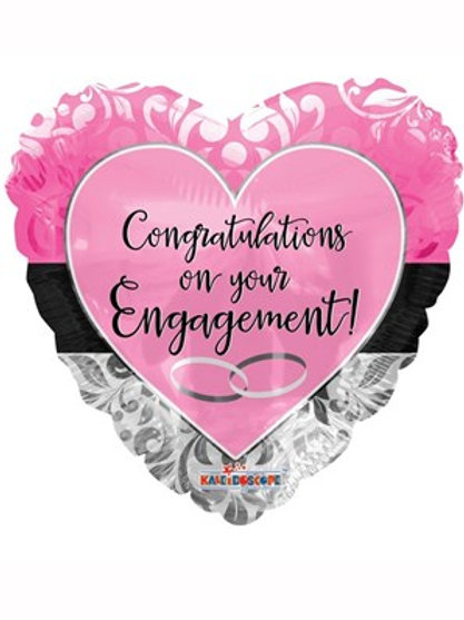 """Congratulations on Your Engagement 18"""" Foil Balloon (Deflated)"""