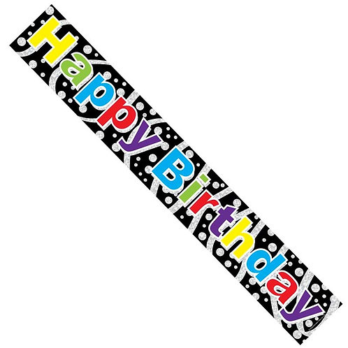 Happy Birthday Banner Male