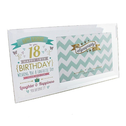 "6"" x 4"" - Signography 18th Birthday Glass Frame"