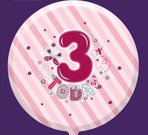 "3rd Birthday Female 18"" Foil Balloon"