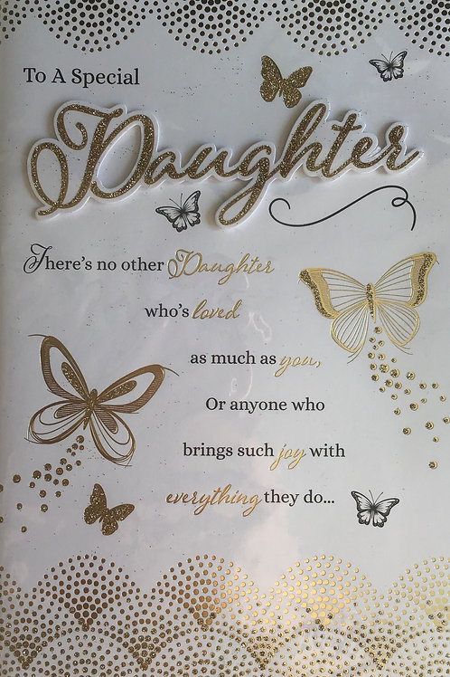 Daughter Birthday Card 8 Page