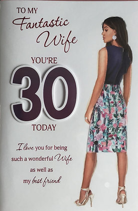 Wife's 30th Birthday Card