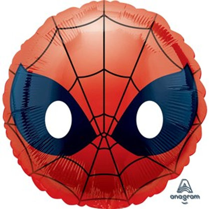 "Spider-Man Emoji 18"" Foil Balloon (Deflated)"