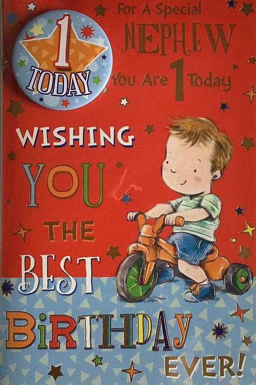 Nephew's 1st Birthday Card