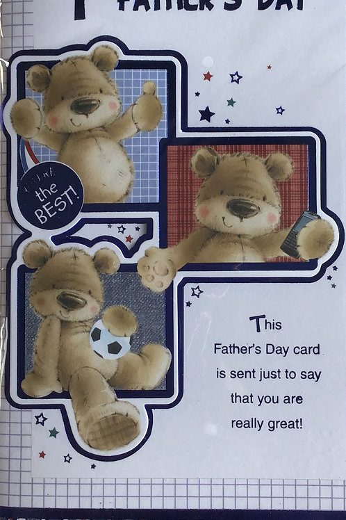 On Your 1st Father's Day Card