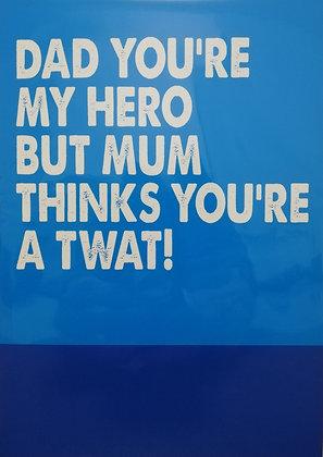 Dad Birthday Filthy Sentiment Card
