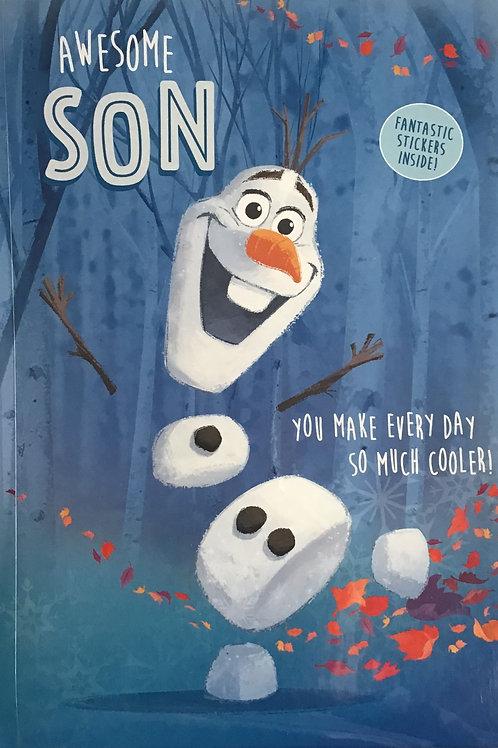 Disney Frozen Son Birthday Card