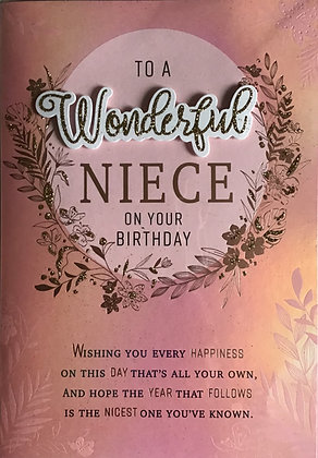 Niece Birthday Card (Lge)
