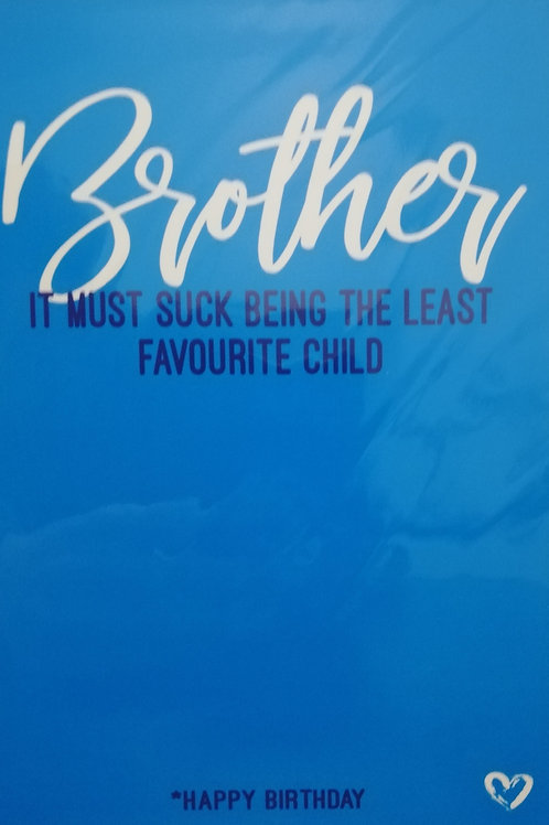 Brother Birthday Filthy Sentiment Card