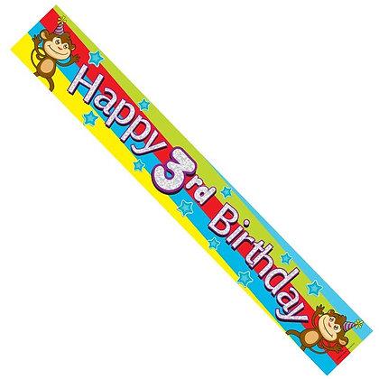 Male 3rd Birthday Banner