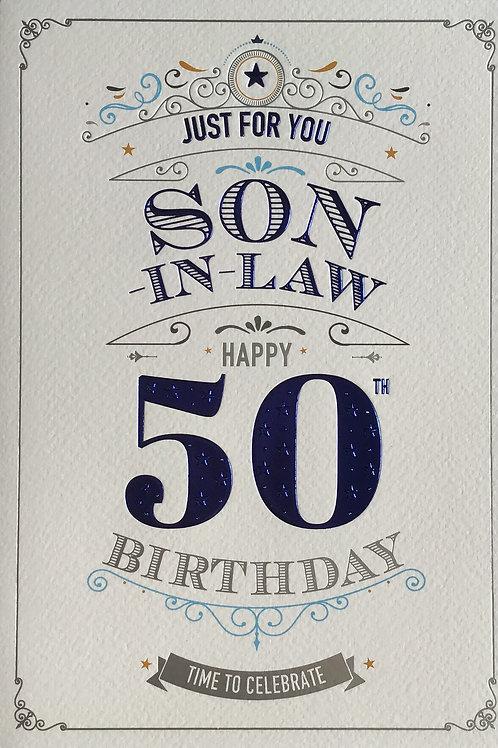 Son In Law's 50th Birthday Card