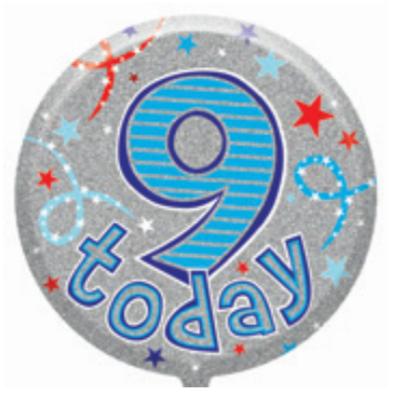 "9th Birthday Male 18"" Foil Balloon"