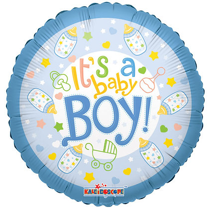 "Baby Bottle Boy 18"" Foil Balloon (Deflated)"