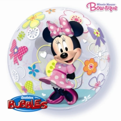 "22"" Disney Minnie Mouse Bubble Balloon (Deflated)"