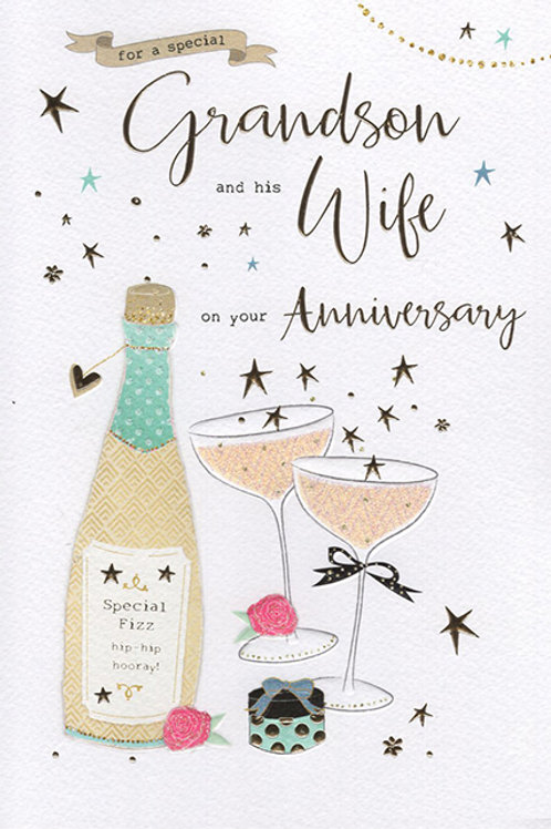 Grandson & Wife Anniversary Card