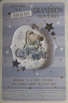 Grandson's 1st Birthday Card