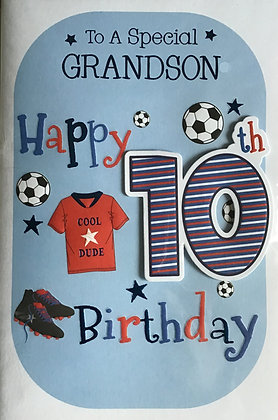 Grandson's 10th Birthday Card