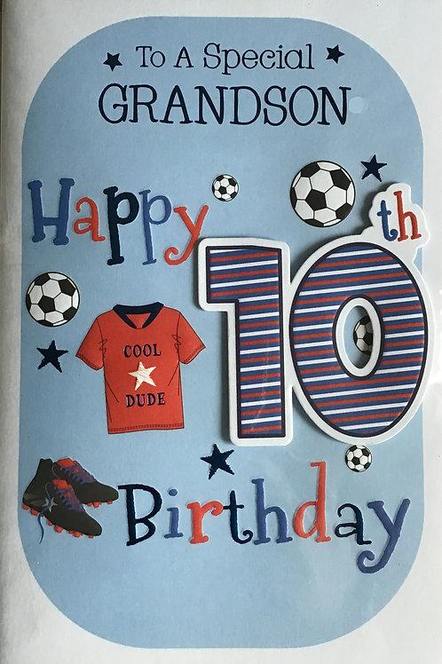 Grandson's 10th Birthday Card