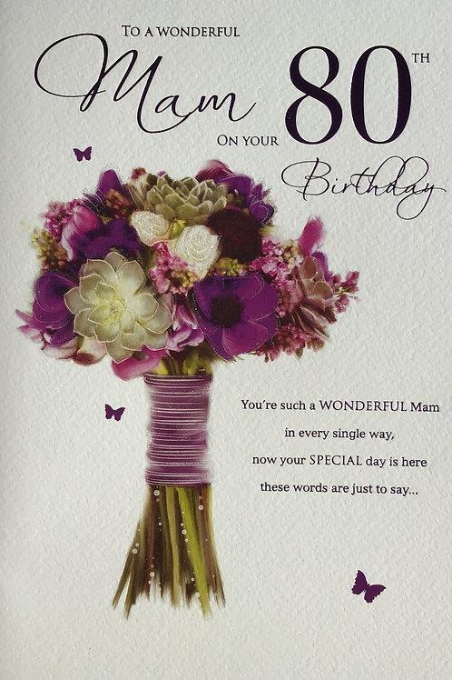 Mam's 80th Birthday Card