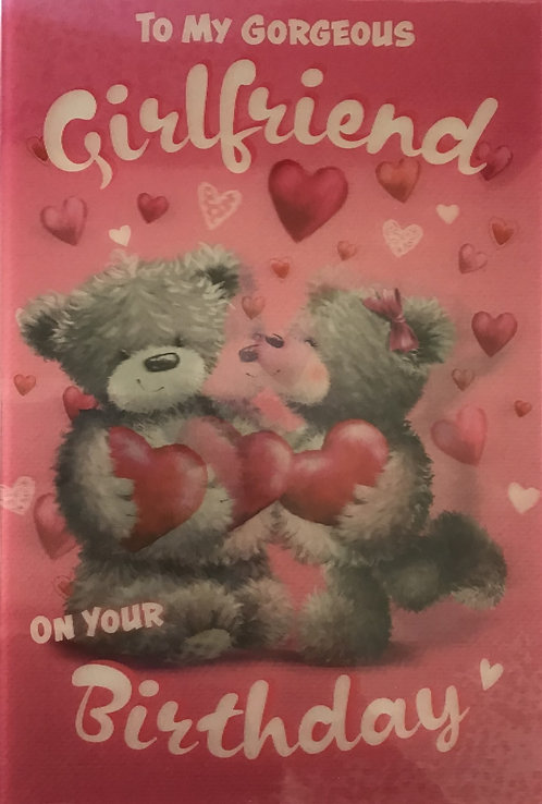 3D Girlfriend Birthday Card (C)