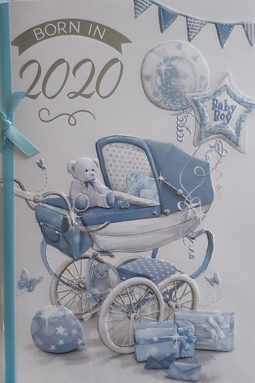 Born in 2020 Baby Boy Card