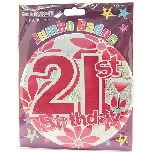 Age 21 Female Party Badge (15cm)